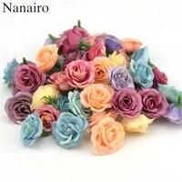 Mini roses artificielles en soie  2 5cm  10 pieces  pour decoration de mariage  de salle de maison  accessoires pour chapeaux  chaussures