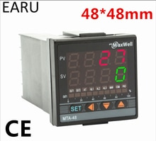 Contrôleur de température numérique 48*48mm AC85-265V puissance Thermocouple universel K J PT100 entrée SSR relais 4-20mA sortie