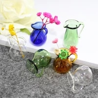 2pcs coffee maker wishing glass bottle small teapot glass pots with jewelry findings diy handmade glass bottle