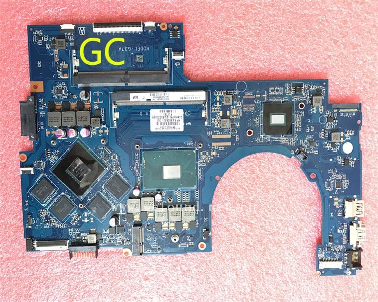 Placa base de ordenador portátil para 17-AB 17T-AB DAG37AMB8D0 857390-601 placa base del sistema completamente probada
