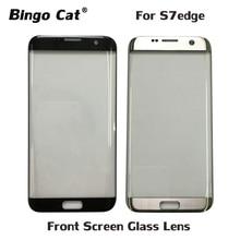 AAA + nouveau verre externe de remplacement pour Samsung Galaxy S7 Edge S7edge G935F LCD écran tactile avant lentille extérieure en verre