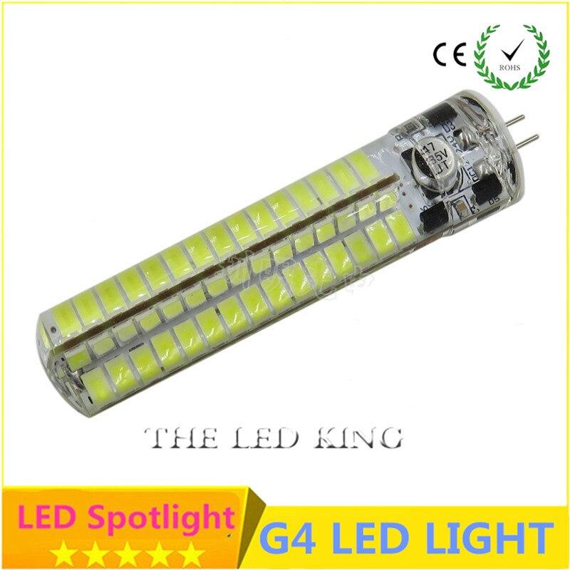 Sonqin 1 pçs mini g4 led 3 w 5 9 12 15 21 ac/dc12v ac220v smd 2835 3014 lampada lâmpada led frete grátis