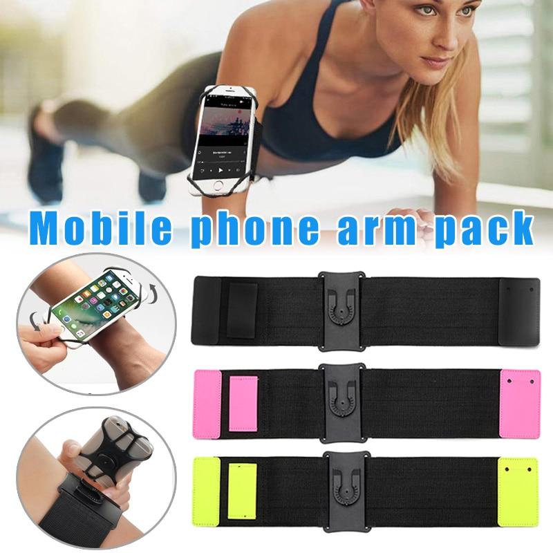 360 Rotatable Sports Running Armband Mobile Phone Holder Forearm Wristband Bag NK-Shopping