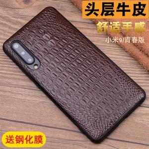 Модный чехол из крокодиловой кожи для Xiaomi9 MI 9, натуральная кожа для Xiaomi 9, закаленное стекло, защита для экрана для Xiaomi MI 9SE
