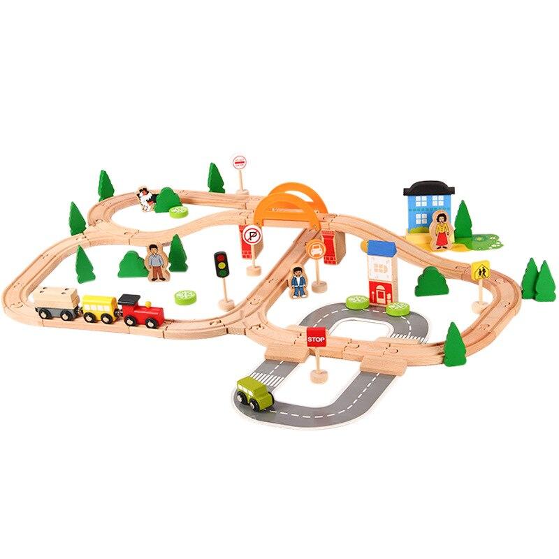 brinquedos trem trilho conjunto completo de brinquedos educativos para criancas 78
