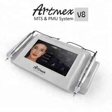 Machine permanente de tatouage de maquillage Artmex V8 écran tactile avec deux poignées sourcil maquillage et lèvre Machine de tatouage rotative système MTS PMU