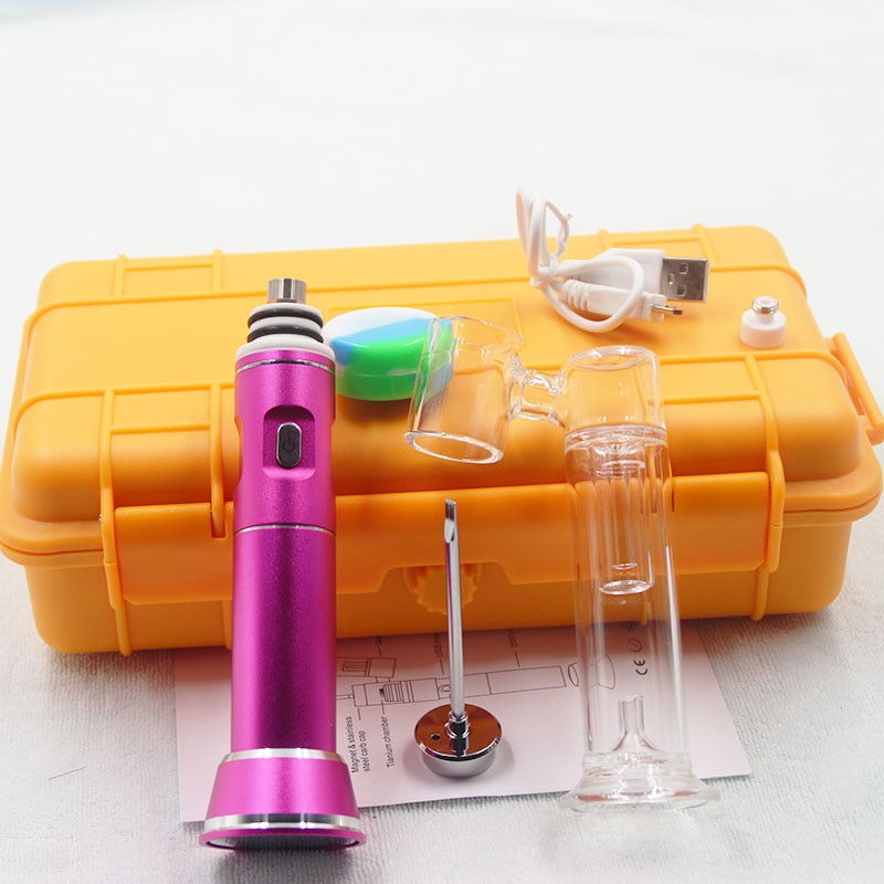 Newest G9 henail with ceramic/titanium -nail portable enail for dabbing electric -nail dnail with Yellow Waterproof Hard Case enlarge
