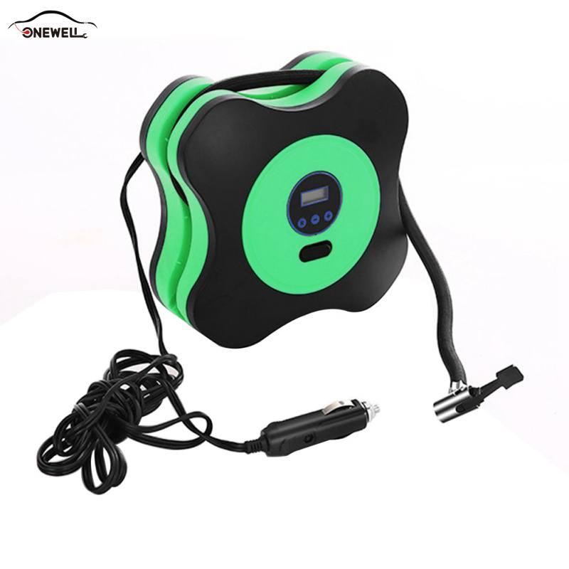 12V Auto tire digital pre-set tire pressure portable car inflatable digital transmitter plug cigarette lighter