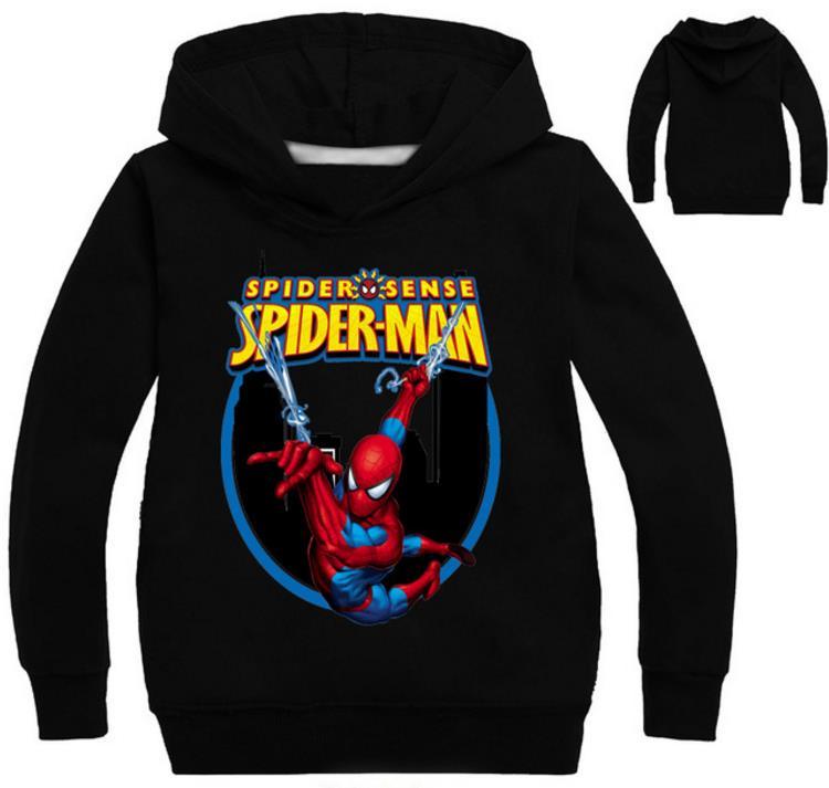 Los niños Tops Casual Spider-Man en el Spider-verso Miles Morales Cosplay traje de sudaderas con capucha 3D patrón de suéter con capucha sudaderas