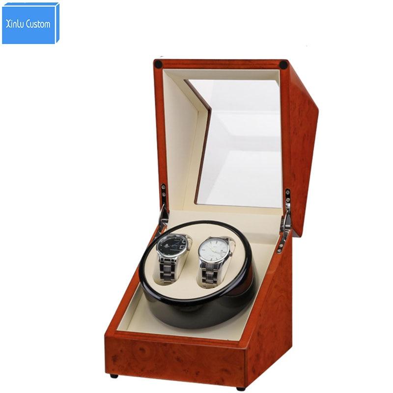Automatic Watch Winder Box, Plug/Battery Global Use Wood Paint Rotate Watches Japan Motor Accessories Watches Watch Box Winders