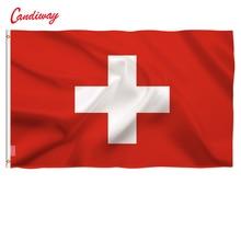 90x150 cm Helvetic Die Schweiz Flagge Holland Polyester Schweizer Flagge Hohe Qualität Günstige Preis In-Kind Schießen NN021