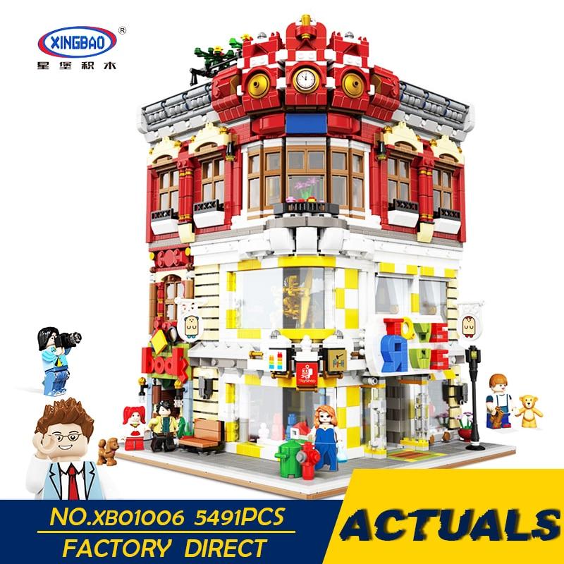 XingBao Legoing City serie para la calle los juguetes y la librería modelo Kit de bloques de construcción adultos empalme juguetes educativos para niños regalos
