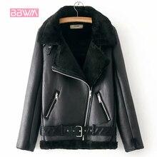 Chaud femmes hiver moto velours veste femme courts revers fourrure épaisse Version coréenne Plus velours veste 2020 Bomber veste