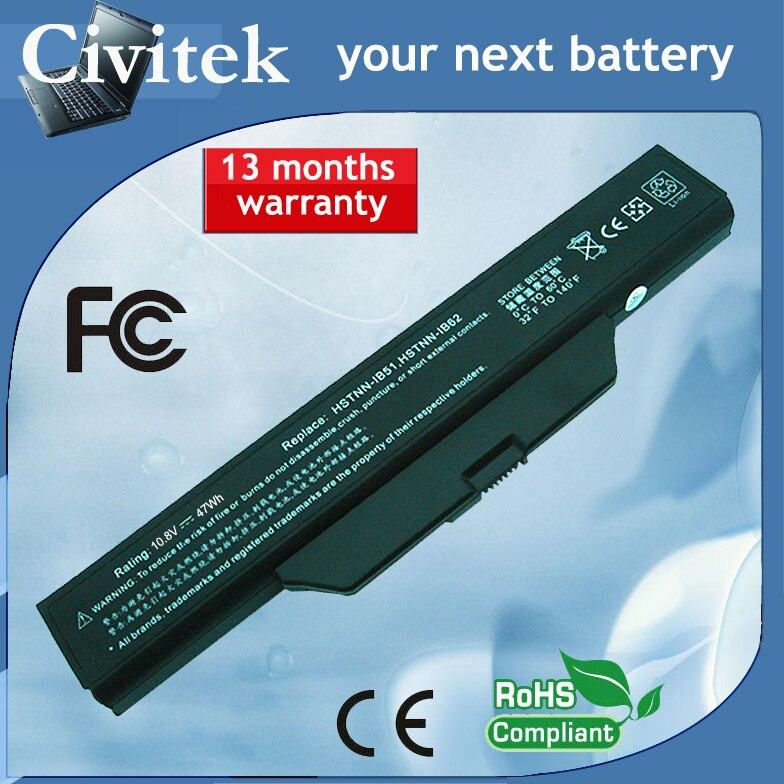 Batería de ordenador portátil para HP Compaq 510 de 511 de 610 empresas portátil de 6720s 6730S 6735S 6820S 6830S 6720/CT 6730 s/CT 500764-001 HSTNN-LB51