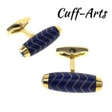 Cuffarts Cylinder Cufflinks For Mens 2018 High Quality Fashion Gold Cuff Links Men Accessories Fathe