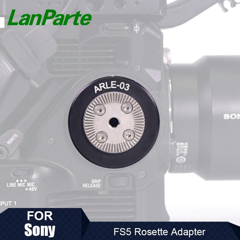 Lanparte Cámara Handgrip Rosette adaptador de ANCI estándar para SONY FS5, FS5...