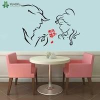 YOYOYU     autocollant mural inspire de la belle et la bete  affiche dart pour salon et cinema  belle decoration artistique pour la maison  QQ159