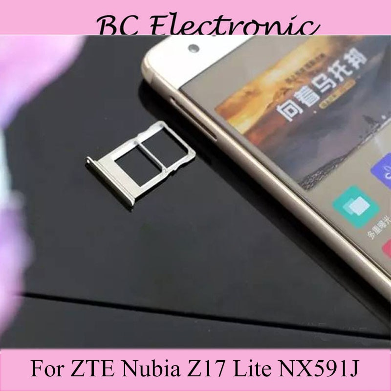 New For ZTE Z17 LITE nx 591J Nano Sim+Micro Card Tray Holder Slot Socket Replacement For ZTE Z 17 LITE nx591J Sim card