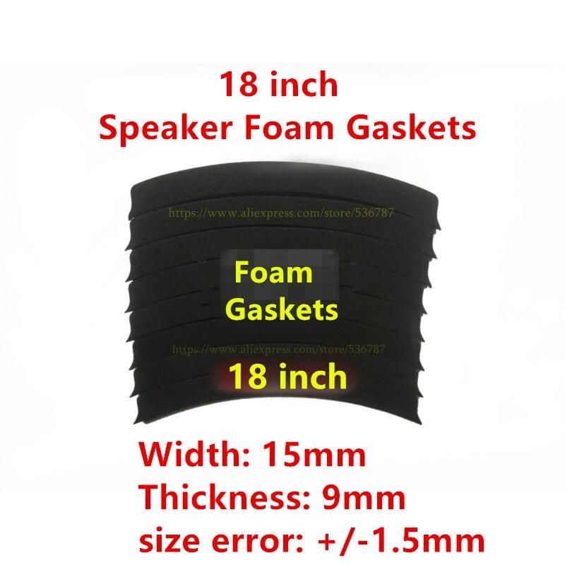 "2 SET 15mm/9mm, 18mm, ""18 pulgadas reemplazar a woofer bass altavoz cuerno juntas de espuma"