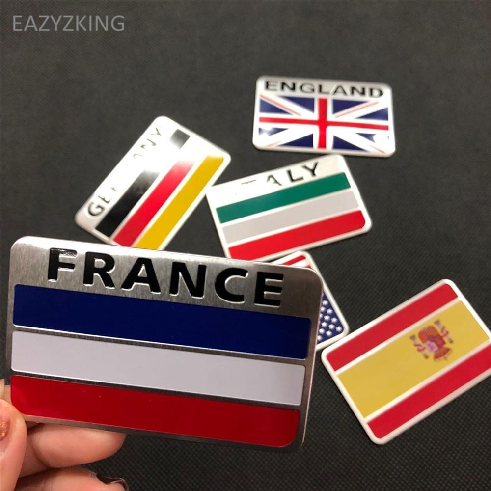 EAZYZKING Car-Styling National Flag Stickers for Suzuki SX4 SWIFT Alto Liane Grand Vitara Jimny S cross Splash Kizashi Wagon R