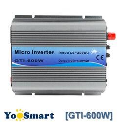 Powmr mppt 600 w no inversor 18vdc do laço da grade (11 3232vdc) a 110vac ou 220vac inversores de onda senoidal pura ventilador refrigerar para sistemas solares