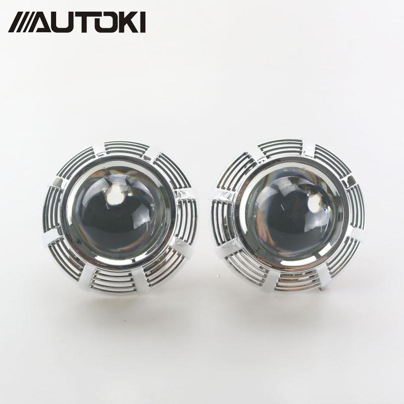 Автомобильный ксеноновый HID проектор Autoki, супер металлический 3,0 H1, Биксеноновая фара, объектив подходит для H4 H7 LHD RHD с Infiniti G37-R, кожухи