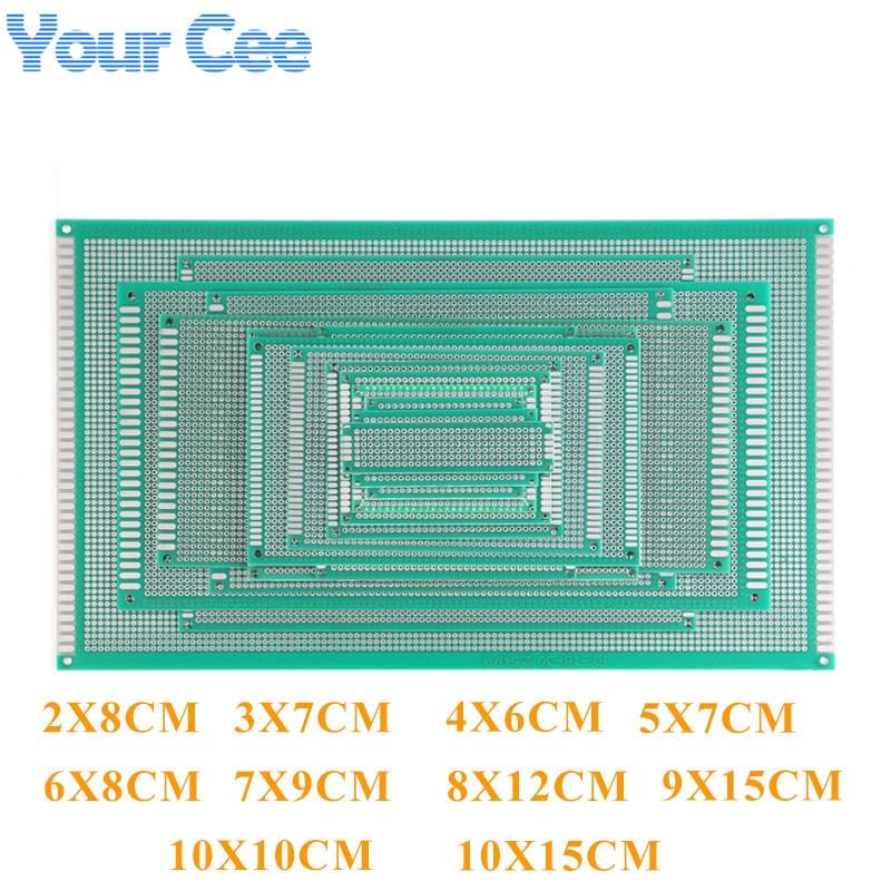 Doble lado Pcb prototipo tablero universal de circuito impreso para Arduino 2X8 3X7 4X6 5X7 6X8 7X9 8X12 9X15X10 10 10 10 10X15CM