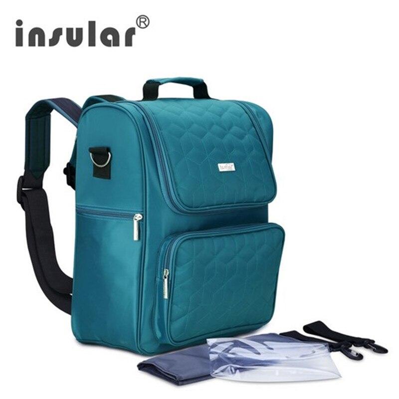 Insular offres spéciales sac à couches en Nylon   Sac étanche pour bébé, sac à dos multifonctionnel, sac à langer, sac à couches
