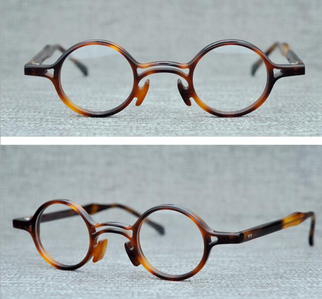 Gafas redondas clásicas de acetato LKK para hombre, gafas graduadas clásicas para mujer, monturas ópticas para miopía, gafas redondas de alta calidad