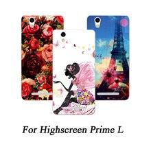 Чехол для Highscreen Prime L с изображением цветочных животных и эйфелевых башен, 10 узоров, 5,0 дюймов, цветные чехлы для телефонов