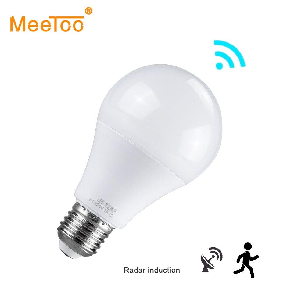 E27 Lampe LED Nacht Licht Lampe Mit Motion Sensor Luminaria Radar Sensor Induktion Lampe Treppen Flur Wc Motion Sensor Licht