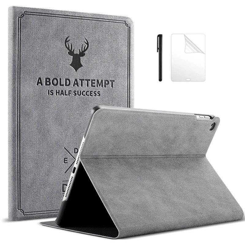 Magnetische PU Leder Fall für iPad 2/3/4 9,7 inch Smart Cover Auto-Sleep/Wake Klapp funda für iPad2 iPad3 iPad4 Fall + Film + Stift