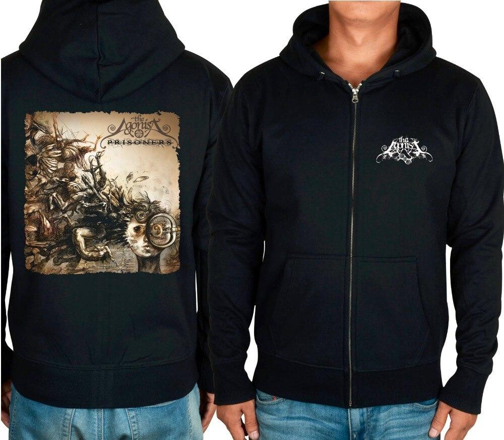 بدلة رياضية بغطاء للرأس ، ملابس الشارع ، 6 تصاميم ، أسود ، سحاب ، Agonis Rock jacket ، punk ، metal ، sudadera ، chandal hombre