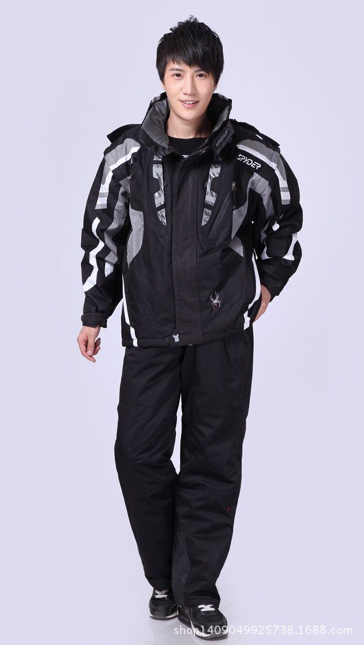 Traje de esquí hombre invierno araña térmica impermeable a prueba de viento nieve pantalones chaqueta de esquí conjunto para hombre esquí y snowboard trajes marcas