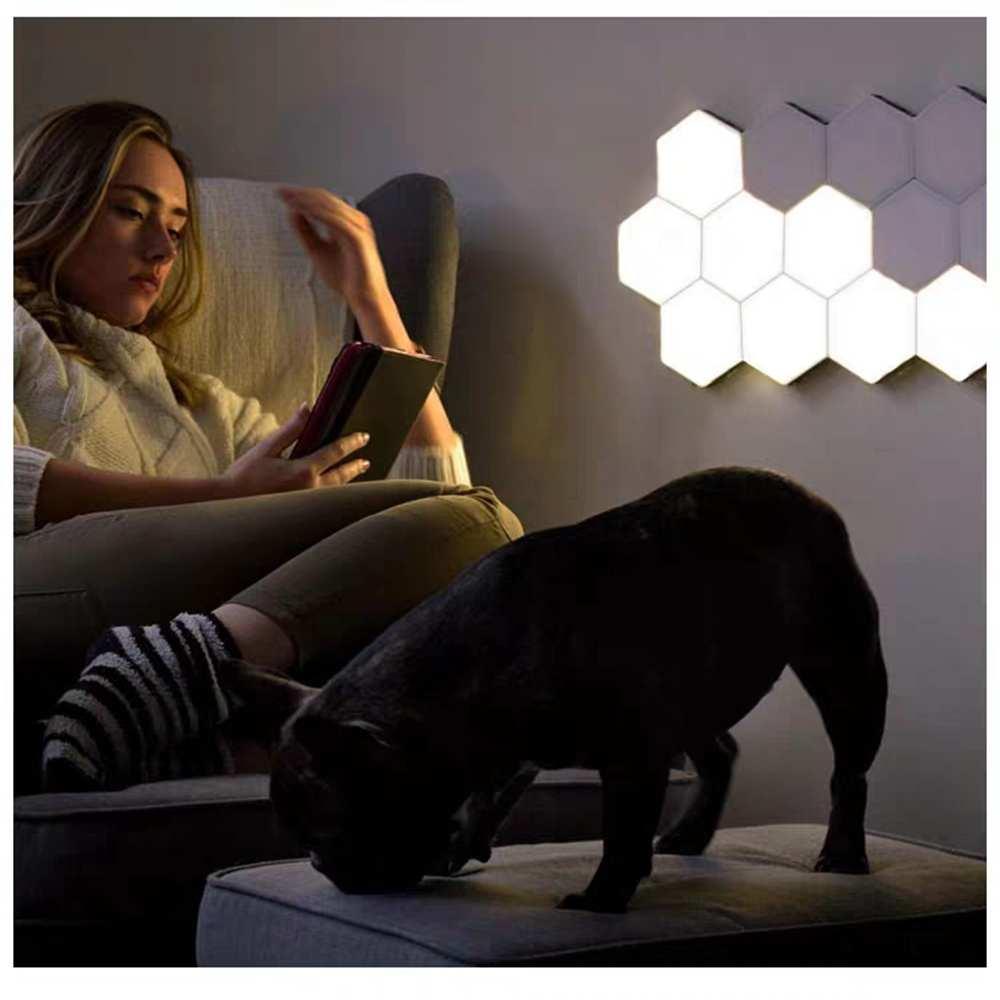 DIY Modular Hexagon Touch Light  Quantum Lamp Wall Lamp Home Decor Children Bedroom Sleep Atmosphere Night Light Holiday Gift