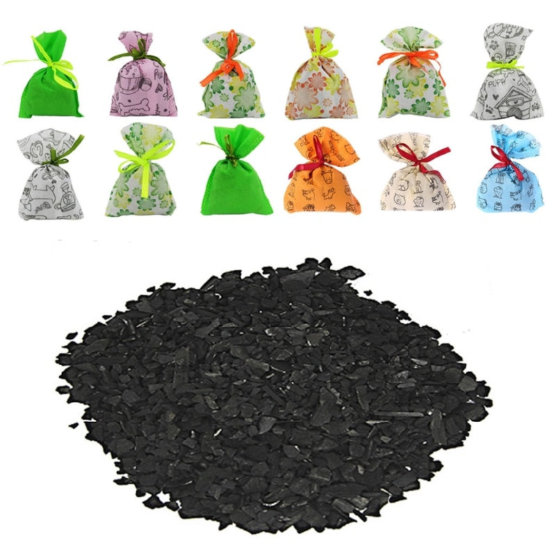 Hanging Car Home Air Freshener Purifier Odor Absorber Activated Carbon Bamboo Charcoal Bag Closet Sh