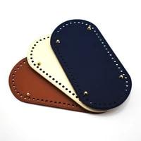 25x12cm oval bottom for knitting bag pu leather bag handmade diy accessories women bag long bottom high quality leather kzbt008