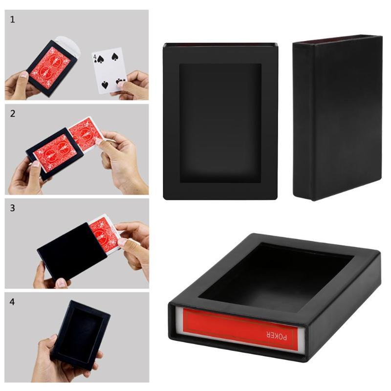 Чехол для волшебной карты Deck, исчезающий, исчезающий, чехол для волшебной карты Close Up Magic Trick Box Fun Poker, исчезающий чехол 9,4*7*1,9 см