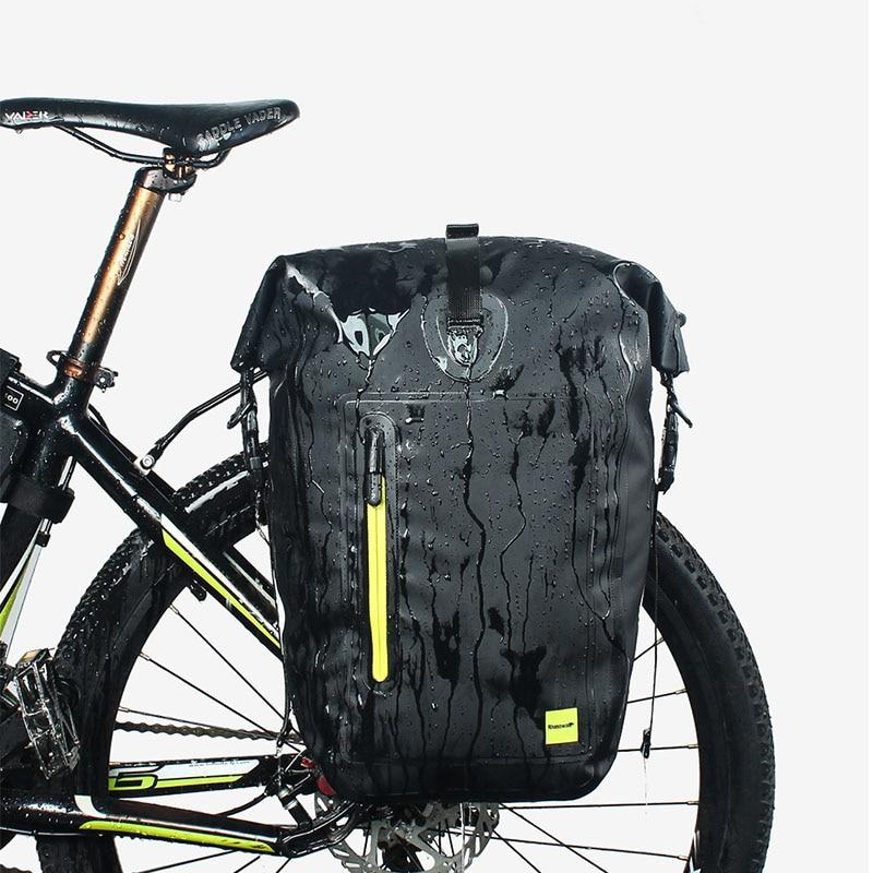 Rhinowalk 25L sacs de vélo de vélo vtt vélo arrière sac de support complet étanche multifonction route vélo sacoche siège arrière coffre sac