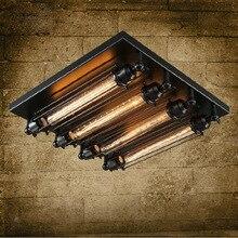 Loft fer plafonnier 4 edison ampoule industrielle Steampunk métal punk lampe Vintage rétro déco luminaire