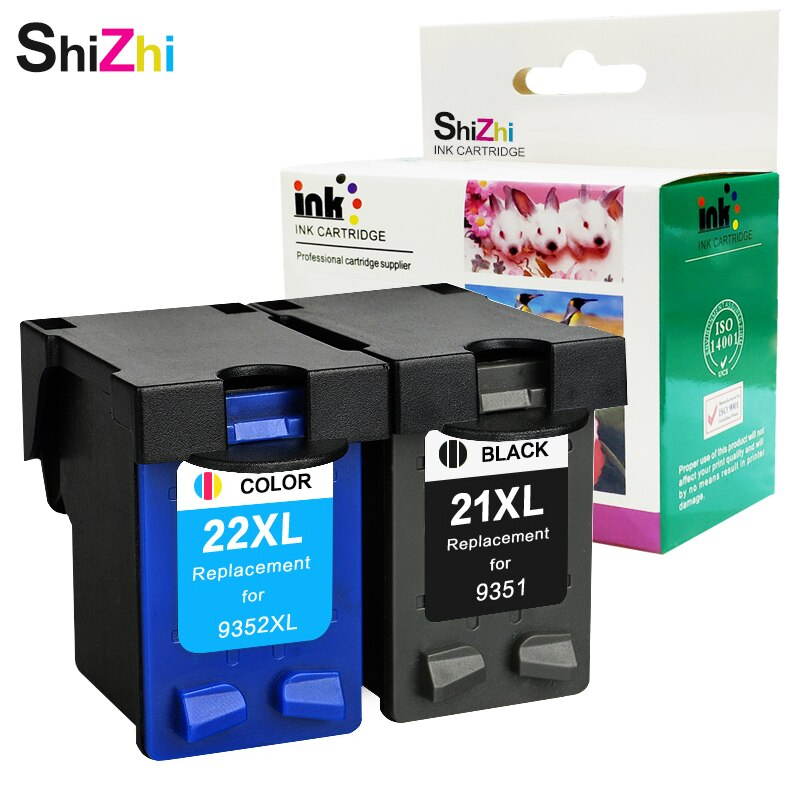 SHIZHI 21XL cartucho de tinta rellenados para HP 21 22XL para HP deskjet serie 3915 3920 F4100 F2100 F2280 F4180 D2360 impresora