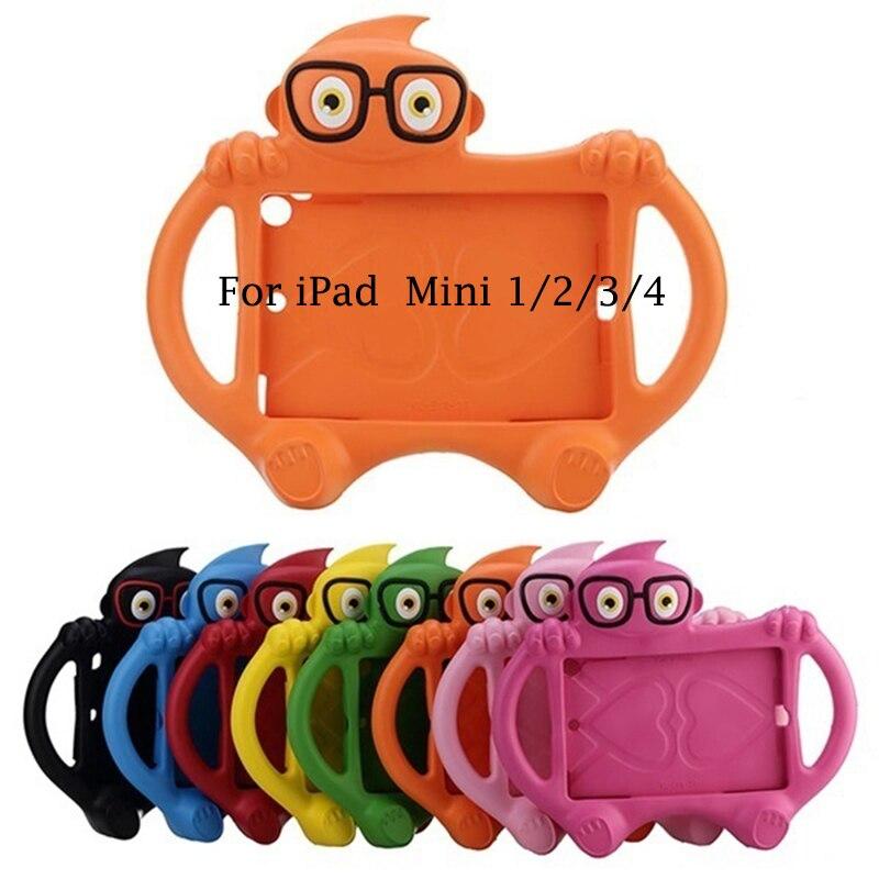 Kinder Silikon Fall Fundas Für iPad Mini 1/2/3/4 Shock Proof Bunte Cartoon Abdeckung Caso für Mini 1234 Nette Schutzhülle Abdeckung