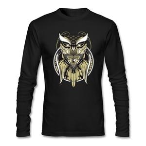 Long Sleeve Business T Shirts Making Teenage All Seeing Eye Tees illuminati pyramid Owl Eye of the Beholder Designs Mens Shirts