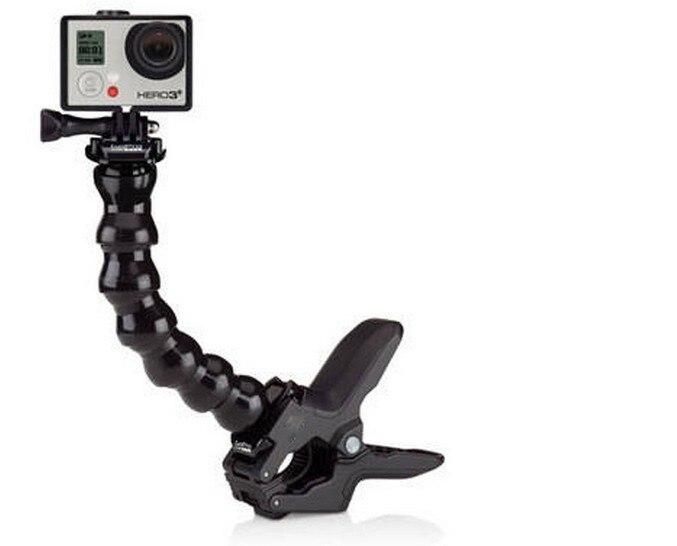 Akcesoria, elastyczny zacisk szczękowy i regulowany szyi dla GoPro akcesoria do aparatu Hero1/2/3/3 +/4 sj4000/5000/6000