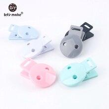 Lets Make accesorios para bebé, Clips para chupete de cabeza redonda, 5 piezas, chupete infantil de mezcla, cuentas DIY, chupete de plástico para bebé, Clips, mordedor