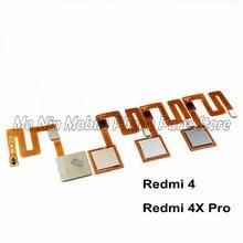 Xiaomi redmi 용 새 홈 버튼 터치 id 센서 키 4 4x 4 xpro 교체 부품 지문 버튼 플렉스 케이블