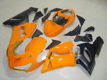 ABSFairings 오렌지 블랙 100% 새로운 닌자 ZX 6R 636 05 06 ZX-6R 05-06 ZX6R 2005 2006 ZX 6R 05 06 100% 페어링 A