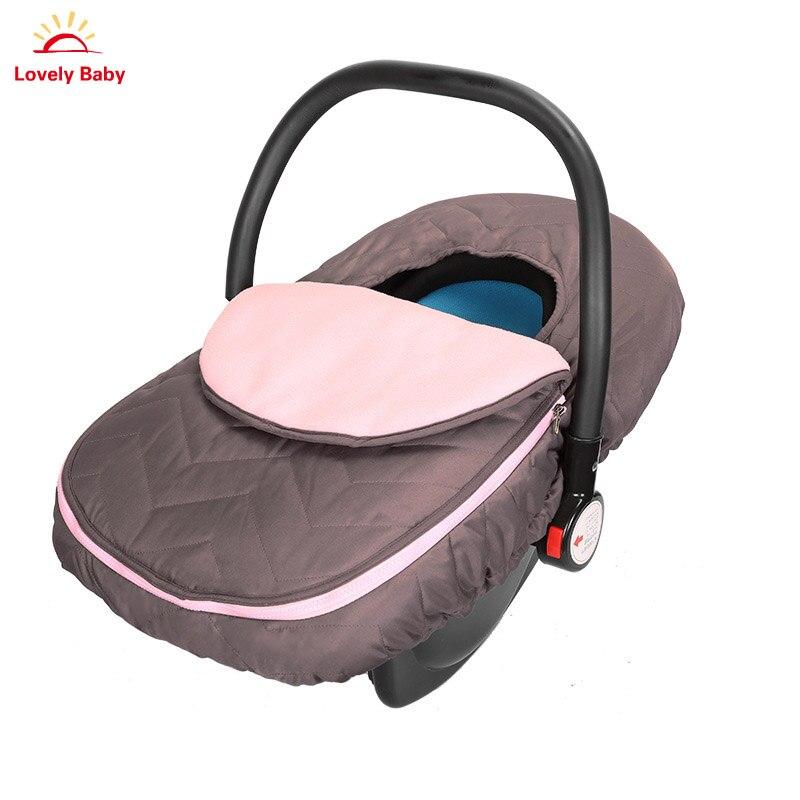 Funda para asiento de coche de bebé de lujo cubierta de cesta de bebé Otoño Invierno cubierta cálida a prueba de viento cochecito cesta de invierno Kit para recién nacido
