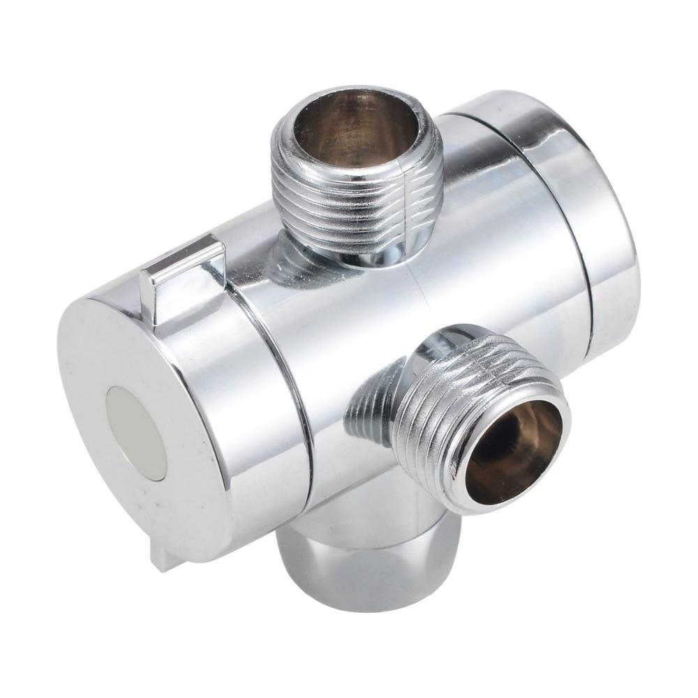 3 Way Adjustable Shower Head Diverter Valve T-adapter Bath Arm Mounted Connector  Diverter Valve Bathroom Part