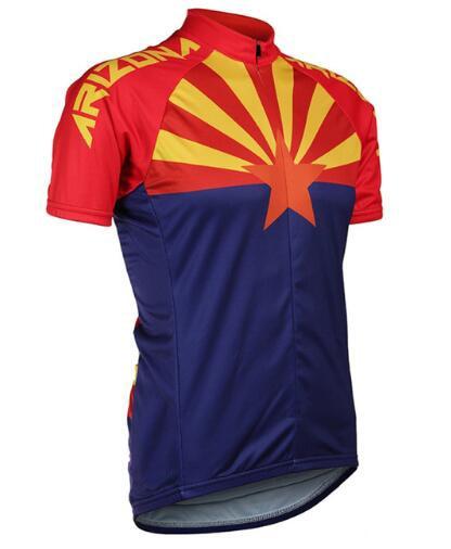 2019 nueva camiseta de Ciclismo de manga corta para hombre de Arizona, ropa de ciclismo de carretera, de manga corta, ropa de carreras de ciclismo azul